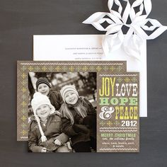 Cheerful Type Christmas Photo Card by Elli