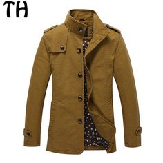 >> Click to Buy << Spring Autumn Jacket Men Outerwear Single Breasted Pockets Mid-long Casual Coats jaqueta masculina #161623 #Affiliate