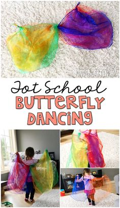 Dancing like a butterfly is a perfect gross motor activity for a butterfly theme in tot school, preschool, or the kindergarten classroom.