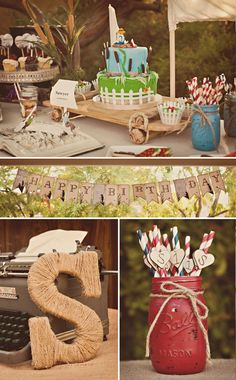 Tom Sawyer & Huckleberry Finn Inspired 1st Birthday