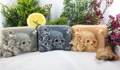 Skull-Shaped Artisan Soaps, Do You Want to Bathe With It?