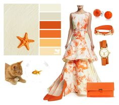 """""""Citrus!"""" by shri19 ❤ liked on Polyvore featuring Christian Siriano, L.K.Bennett, Bling Jewelry and Tory Burch"""