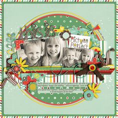 This is Picture Perfect - Scrapbook.com (created by Cindy Schneider 14-Mar-12)via Wendy Schultz onto Scrapbook Art.