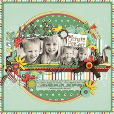 This is Picture Perfect - Scrapbook.com (created by Cindy Schneider 14-Mar-12)via Wendy Schultz onto Scrapbook Art.
