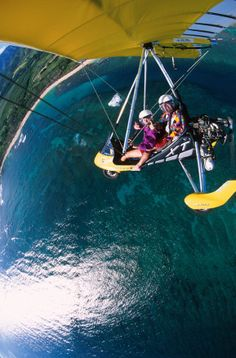 Paradise Air Powered Hang Gliding Oahu Hawaii North Shore Ultralight Microlight Instruction ecotour Trike Glider Airplane