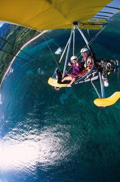 Paradise Air Powered Hang Gliding Oahu Hawaii North Shore Ultralight Microlight Instruction ecotour Trike Glider Airplane