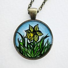 Lovely hand painted necklace