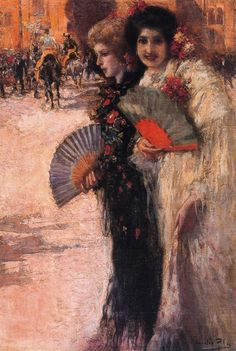 A los Toros ( To the Bullfight ) - Cecilio Pla y Gallardo Gustave Dore, Fan Language, Spanish Woman, Spanish Style, Impressionist Artists, Spanish Painters, Pierre Auguste Renoir, Cool Paintings, Weird Facts