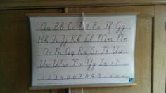 Oude Schoolplaat  Alfabet