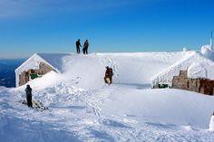Skiing at LOC Hut