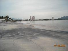 Panama, black sand beach