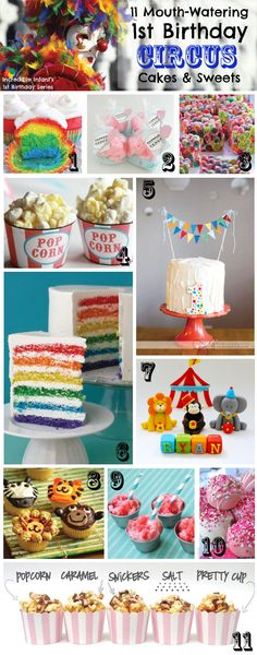 11 Mouth-Watering First Birthday Circus Cakes and Sweets!