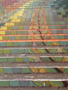 Lincoln Park Steps Work In Progress Installation Community Art Stairs