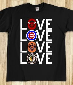 Chicago Sports Love Sleeve Top
