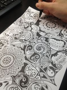 Amazing step by step images by Noah's Art #Zentangle #Zentangle Patterns