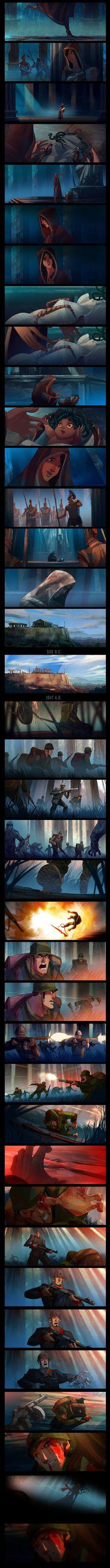 Awesome short story fromJUN CHIU Illustration - Album on Imgur