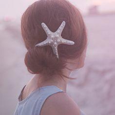 Beach wedding hair https://www.etsy.com/listing/200413919/large-sparkly-seastar-starfish-hair-clip?ref=listing-shop-header-0