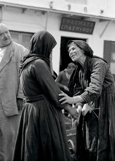 Chance meeting at the market (Ioannina, Epirus region, NW by Costas Balafas Greece Pictures, Old Pictures, Old Photos, Nice Photos, Greece Photography, Artistic Photography, Greek Traditional Dress, Great Photographers, Athens
