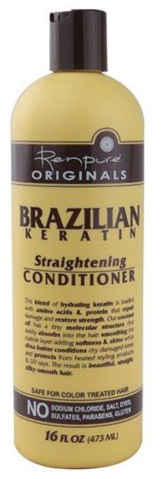 Brought to you by Avarsha.com: <div><div>Renpure Originals Brazilian Keratin Straightening Conditioner -- 16 fl oz</div><div>Renpure</div></div>