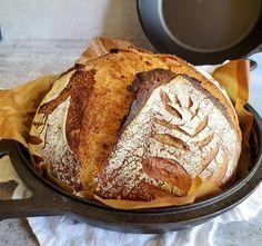Simple No-Knead Sourdough Bread Recipe ~ Homestead and Chill