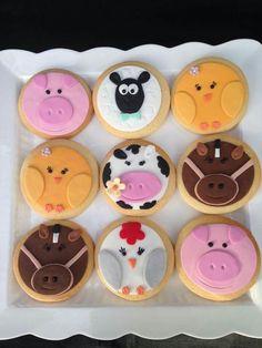 Farm! Galletas Cookies, 1st Birthday Parties, Cake Pops, Birthdays, Kos, Chocolates, Party, Desserts, Cupcake