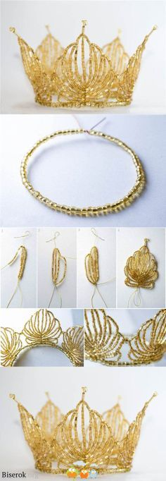 Wow check out this tutorial for a bead crown! #beautiful great gift