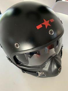 Héros police retro CASQUE casques jets scooter noir mat prix spécial