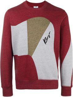 KENZO Panelled Sweatshirt. #kenzo #cloth #sweatshirt