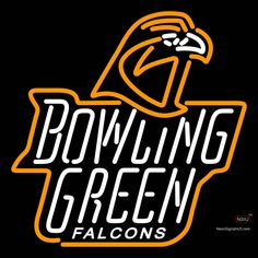 Bowling Green Falcons Alternate  Pres Logo NCAA Real Neon Glass Tube Neon Sign,Affordable and durable,Made in USA,if you want to get it ,please click the visit button or go to my website,you can get everything neon from us. based in CA USA, free shipping and 1 year warranty , 24/7 service