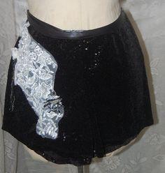 Black Sequin Embellished ShortsGpsy Boho SytleHot by Ramblinrose67, $25.00