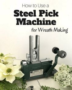 Let's look at the best way to use a steel pick machine for wreath making with Julie, owner of Southern Charm Wreaths. This free tutorial gives you great tips and techniques, along with a VIDEO demonstration, on how to use a Steel pick machine. This allows you to insert your floral stem easier into your project and limits the amount of movement of the stem once it is in your arrangement. Check out all of our wreath making and DIY floral project tutorials. Wreath Crafts, Diy Wreath, Wreath Making, Diy Crafts, Funky Bow, Artificial Flower Arrangements, Bow Tutorial, Deco Mesh Wreaths, How To Make Wreaths