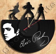GeoArtCrafts - Wall Clock Elvis Vinyl Record Clock