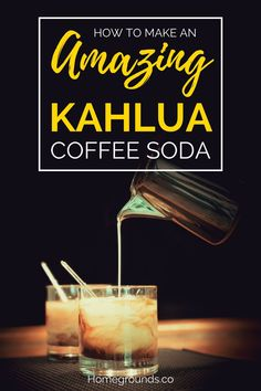 Is there anyone who travels to Mexico who doesn't bring home a bottle of Kahlua?If you don't – please bring us one if you go!The dark, coffee and cane-sugar-based liqueur is very popular.And once you try this Kahlua Coffee Soda recipe, our bet is that it will become an even bigger fave in your house. #coffee #coffeeaddict #coffeesoda