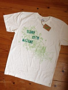Mens Work with nature white t-shirt seeds