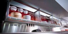#Aerius In 2002, it became the first 100% aluminum and glass wall units. #Valcucine