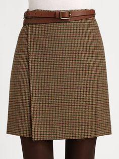 Ralph Lauren Blue Label - Wool Wrap Skirt
