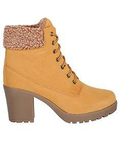 Zip Ankle Heeled Worker Boots (3,Tan (16467)) - http://on-line-kaufen.de/krisp/36-eu-damen-nubuk-kunstleder-boots-3
