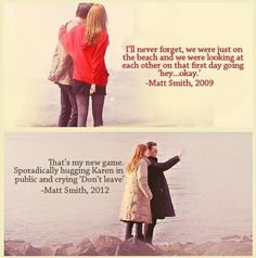 Matt Smith and Karen Gillan.