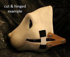 DIY toony large feline resin mask base for by stuffedpandastudios