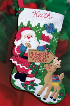North Pole Bucilla Christmas stocking kit, a MerryStockings exclusive.