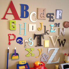 Abc wall in playroom