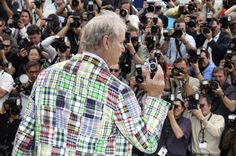 TRANSFIXED: Actor Bill Murray posed while promoting the film 'Moonrise Kingdom' at the Cannes film festival in southern France Wednesday. (Joel Ryan/Associated Press)