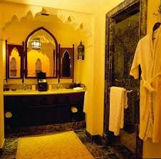 Arabic bathroom with Arabian designs throughout.