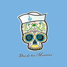 Dia de los Muertos/mexican sailor skull