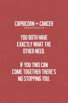 Cancers and capricorns in relationships