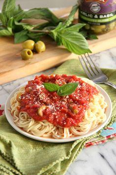 Garlic & Basil Tomato Sauce #STARFineFoods #STAROlives