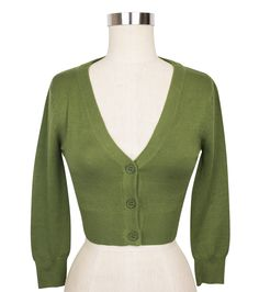Cover up in style with this cropped cardigan in sage! Perfect for those cooler days and nights or covering up when in the office, this 3/4-length sleeve sweater pairs well with a variety of dresses and can easily be dressed up or down for a number of looks!