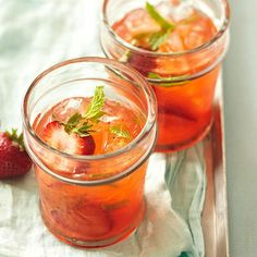 Mint Strawberry Crush: It's National Cognac Day! Celebrate with a fresh batch of this twisted strawberry-mint refresher. (BHG.com)
