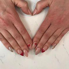 @glamourgels // #valentinesnails #utahnails #gelnails #glamourgels #nailart nails by Shawnee