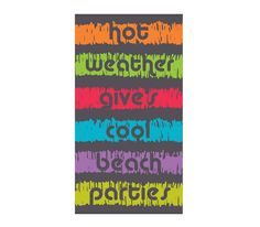 Πετσέτα Θαλάσσης Cool Parties Από 100% βαμβάκι και διάσταση 83x160 Cool Stuff, Books, Libros, Book, Book Illustrations, Libri